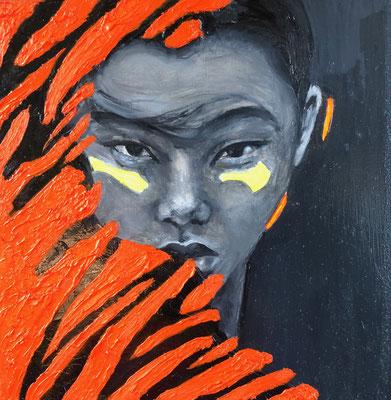 'Face VIII' oil on panel, 20x20cm €150