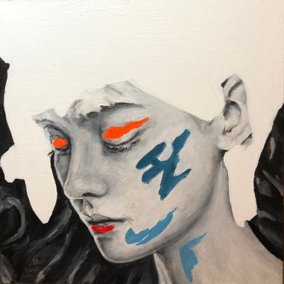 'Face XI' oil on panel, 20x20cm €150