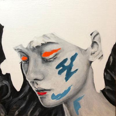 'Face XI' oil on panel, 20x20cm €250