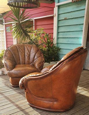Preciosos sillones de cuero vintage