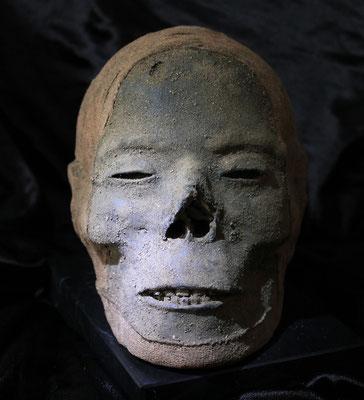 Egyptian mummified head / Cabeza momificada egipcia (oddities)