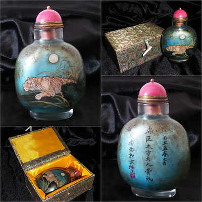 Snuff bottle pintado interior