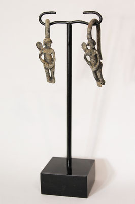 Romano Tardío / Bizantino Temprano Bronce par de pendientes