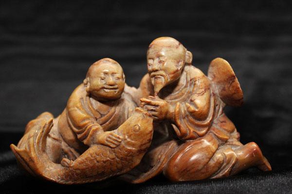 Shousan dushan soapstone chinese carved / Piedra jabón tallada (壽山杜尚皂石)
