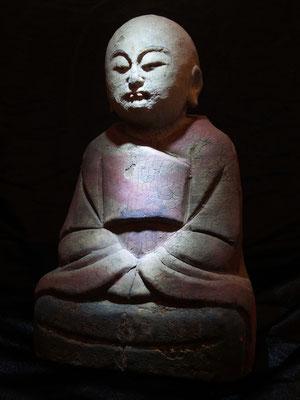 Antiguo Buda de madera policromada / Ancient Buddha polychrome wood