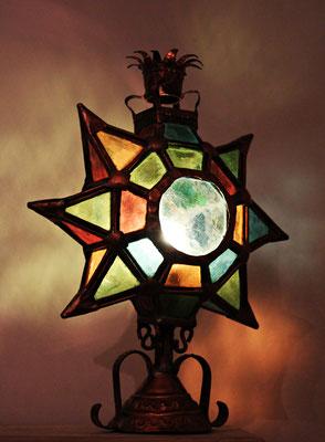 Antigua lámpara de cobre Art Decó / Antique Art Deco Copper Lamp