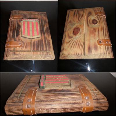 Antiguo álbum de fotos musical de madera ✯ Old or ancient musical wooden photo