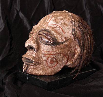 Iatmul Over Modeled Ancestor Skull, Papua New Guinea (ODDITIES - RAREZAS)
