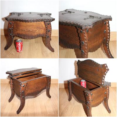 Antigua y curiosa mesa costurero de estilo rústico