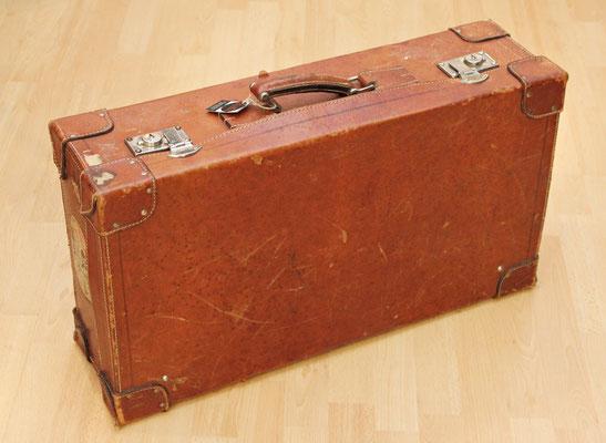 Antigua Maleta de piel (1900 - 1920) Old leather Suitcase
