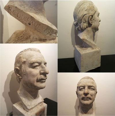 """Busto de """"Tip"""" (autor: F. Coullaut Valera) FIRMADO / Bust of """"Tip"""" (author: F. Coullaut Valera) SIGNED"""