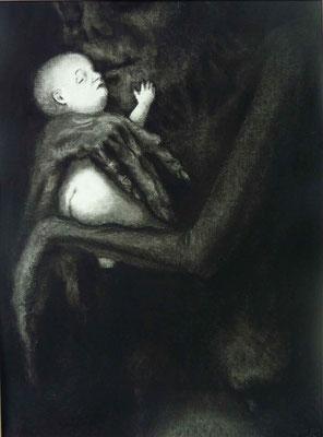 l'enfant et la mort- le baiser