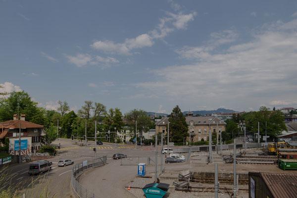 Blick unterhalb der Alpeneggstrasse.