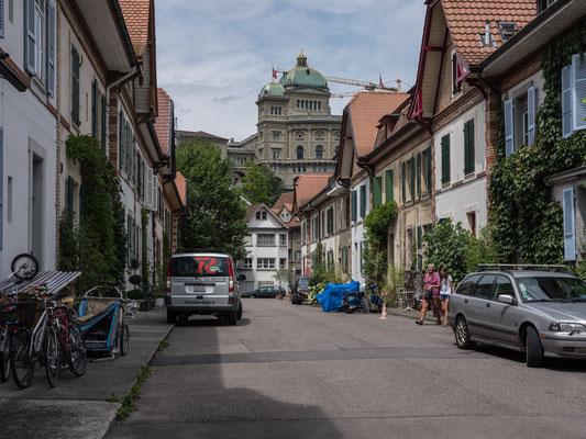 """""""Dorfkern"""" mit Blick aufs Bundeshaus."""