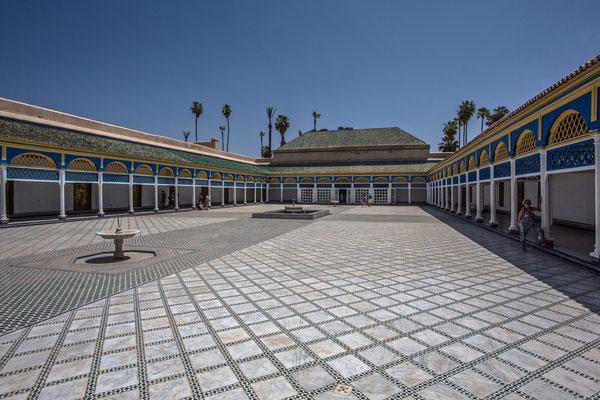 im Bahia-Palast.