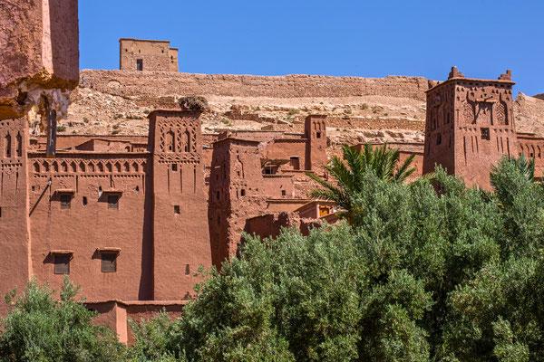 die Gebäude des Ksar Ait Ben Haddou.