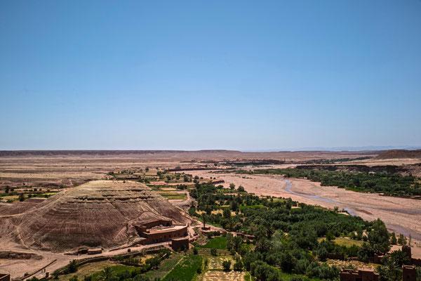 Blick vom höchsten Punkt des Ksar Ait Ben Haddou.