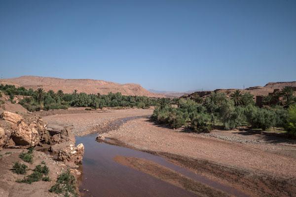 Der Wasserlauf des Ksar Ait Ben Haddou.