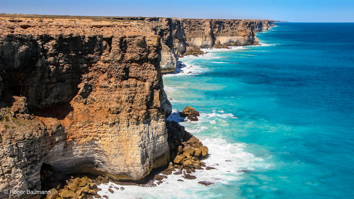 Klippen an Great Australian Bight, South Australia