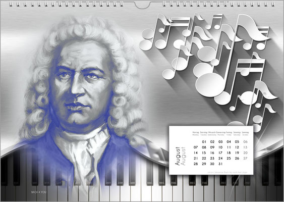 Pipe Organ Calendars, Music Calendars, Composers Calendars … Music Gifts.