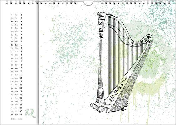 The Music Gift Music Wall Calendar.
