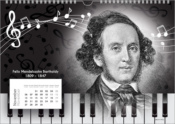 The Composers Wall Calendar – A Music Gift