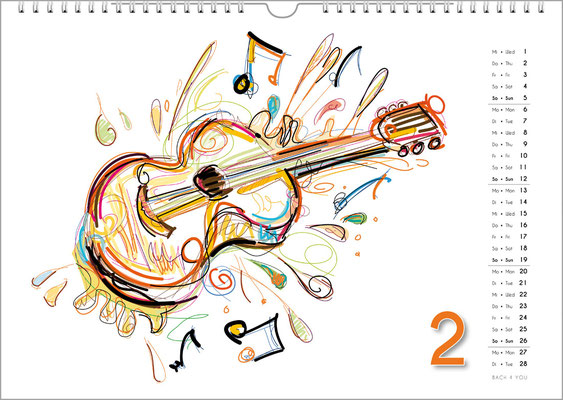 Music Calendars ... Are Cool Music Gifts.