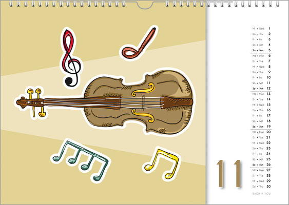 The Music Gift Music Wall Calendar.