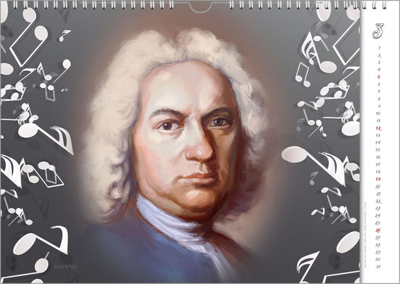 Bach Calendars Are Gifts for Musicians!