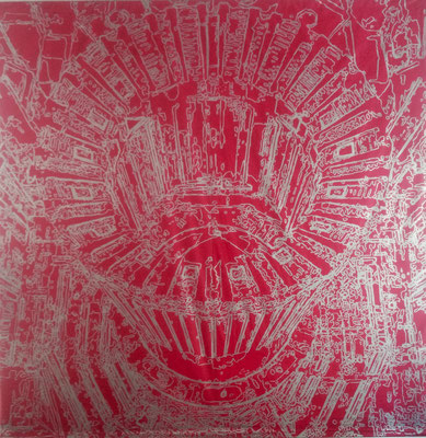 Atlas-Esmalte sobre tela PVC 450cm X 450cm