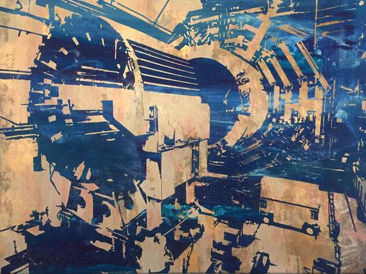 Atlas-06-V2 tecnica mixta sobre tela 130X100