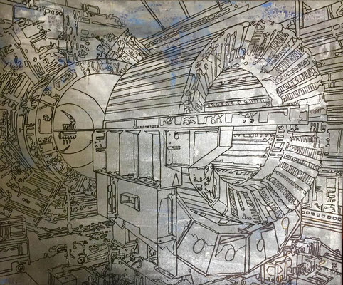 Estudio Atlas-03-esmalte sobre tela 60X50