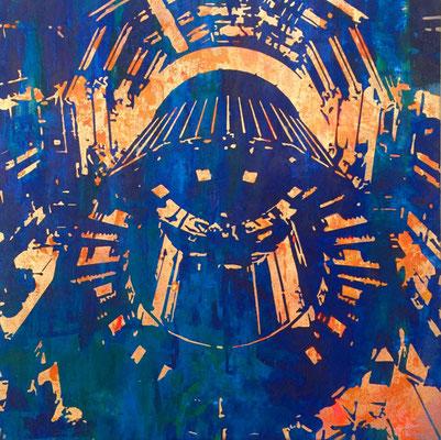 Atlas-14-V2 tecnica mixta sobre tela 70X70