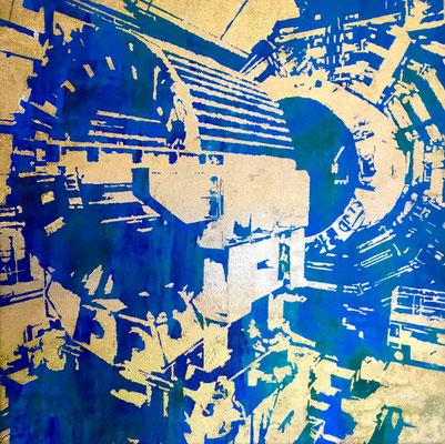 Atlas-17-V2  tecnica mixta sobre tela 50X50