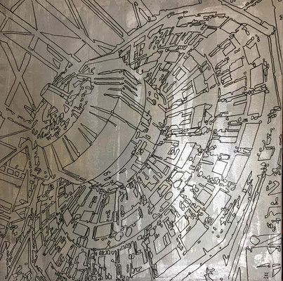Estudio Atlas-02-esmalte sobre tela 60X60