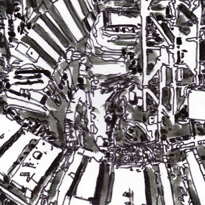 Estudio Super estructura 01 - Oleo sobre madera 28cm X 28cm