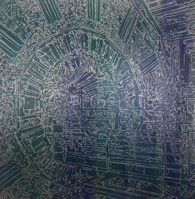 Estudio Atlas-A-oleo y esmalte sobre tela 150X150