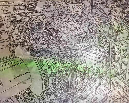 Estudio Atlas-01-esmalte sobre tela 60X 40