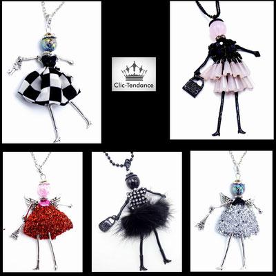 collection bijoux fantaisie poupée