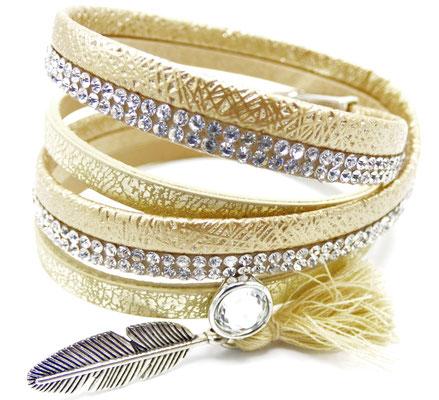 bracelet Multi-Rangs femme doré
