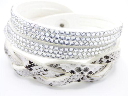 Bracelet Femme Multirang Blanc
