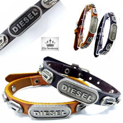 bracelet homme diesel cuir pas cher