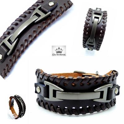 bracelet homme tendance en cuir