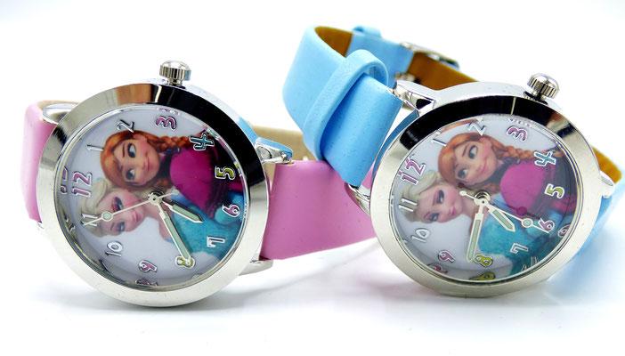 montre enfant rose princesse ou bleue givre
