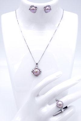 parure de bijoux perle de culture