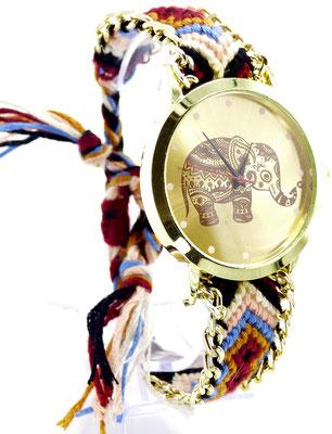 montre originale elephant cadran doré
