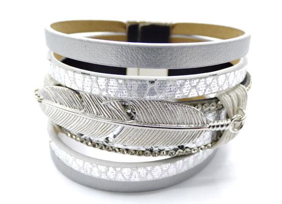 bracelet femme glamour argenté