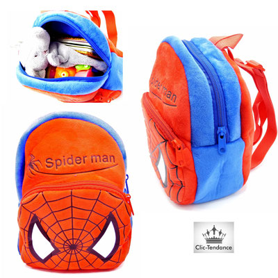 sac enfant spiderman rouge