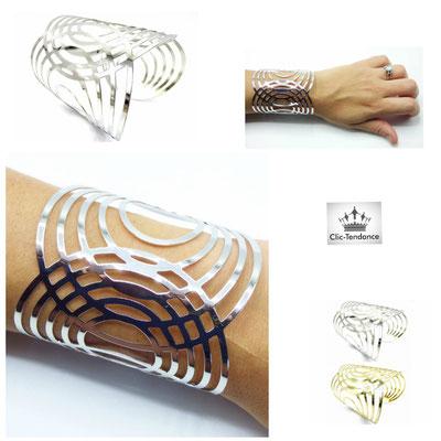 bracelet manchette  ethnique et tendance femme