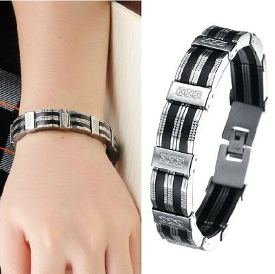 mode homme le bracelet acier